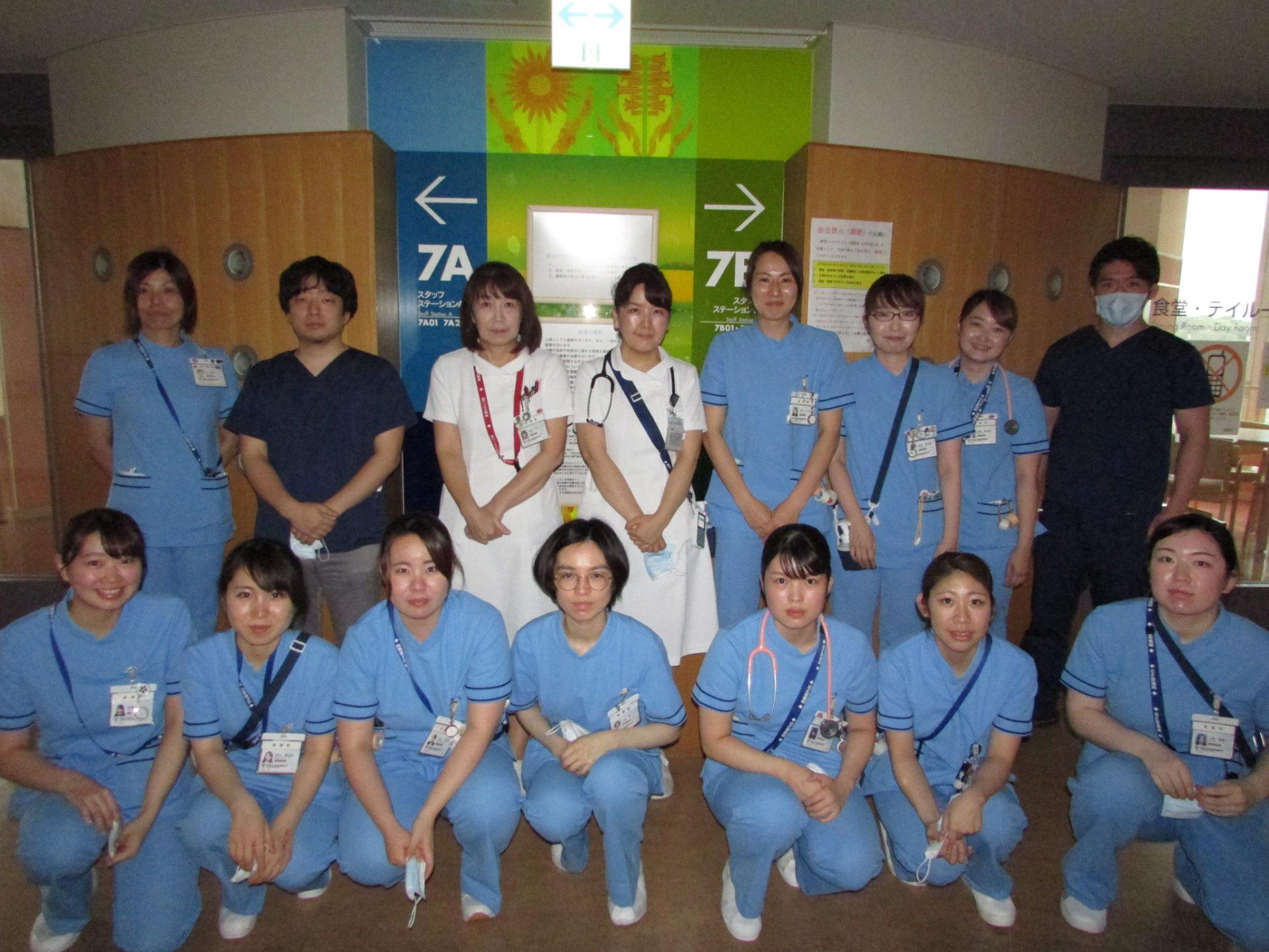 7B病棟:呼吸器内科・外科、血液・腫瘍内科、整形外科